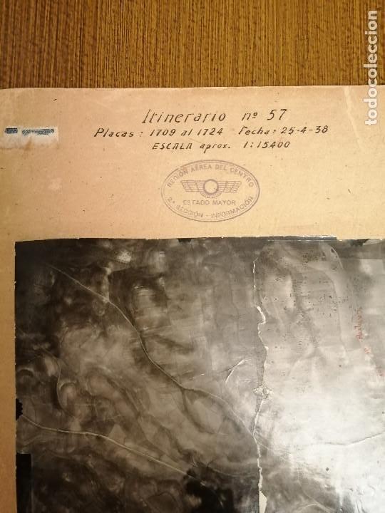 REGION AEREA DEL CENTRO, 2ª SECCION-INFORMACION- 3 MAPAS AEREAS DE MADRID-FECHA 25-4-1938.- VERFOTOS (Militar - Guerra Civil Española)
