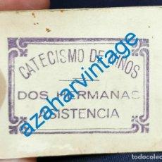 Militaria: DOS HERMANAS, GUERRA CIVIL, CATECISMO DE NIÑOS, ASISTENCIA, VALE 1 PUNTO. Lote 210096540
