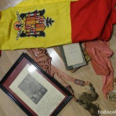 Militaria: EJERCITO ESPAÑOL MILITAR GUERRA CIVIL BANDERA ÁGUILA FOTO MILLÁN ASTRAY FAJINES LIBROS ROMERO BASART. Lote 210157300