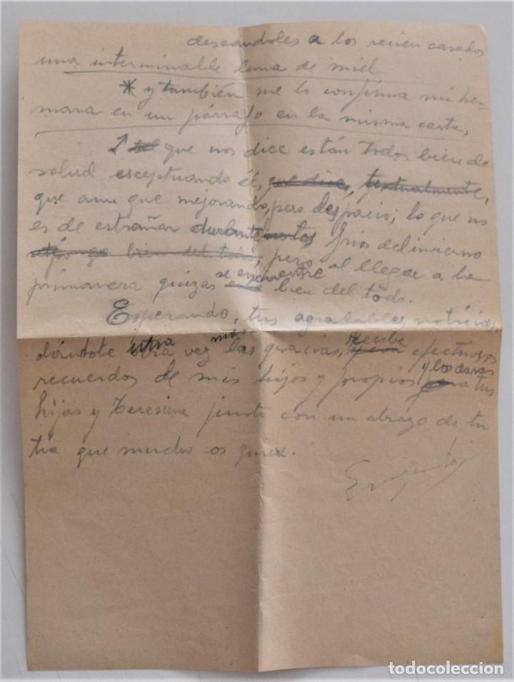 Militaria: CARTA Y SOBRE SIN SELLO DE COCENCOO, COMITÉ CENTRAL DE COORDINACIÓN DE BARCELONA AGOSTO 1938 - Foto 6 - 210205528