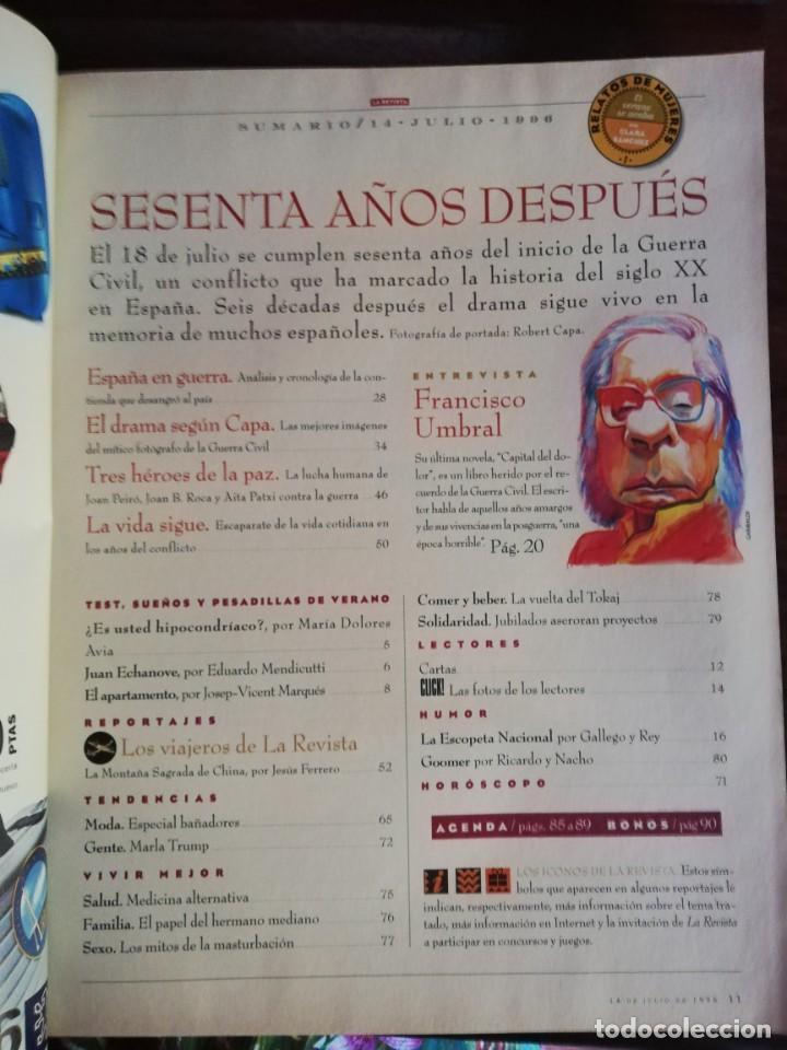 Militaria: LA REVISTA (EL MUNDO). Nº 39, AÑO 1996. 60 AÑOS DESPUÉS ESPAÑA EN GUERRA... - Foto 2 - 210787519