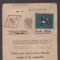Militaria: SEVILLA- CARNET SALVOCONDUCTO- SELLO 10 PTAS- VER FOTOS. Lote 211640339