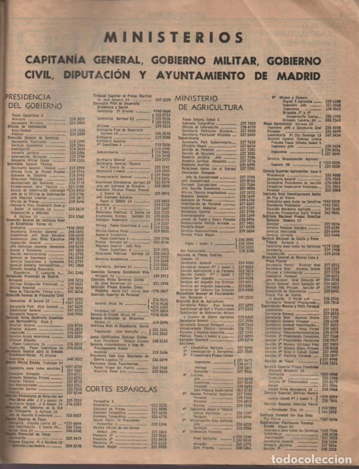 Militaria: ANUARIO TELEFONICO- SECCION OFICIAL- JEFATURA DEL ESTADO.- TAPA SUELTA- VER FOTOS - Foto 4 - 211642584