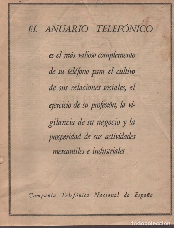 Militaria: ANUARIO TELEFONICO- SECCION OFICIAL- JEFATURA DEL ESTADO.- TAPA SUELTA- VER FOTOS - Foto 5 - 211642584