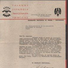 Militaria: SEVILLA.- INVITACION ASOCIACION SEVILLANA DE CARIDAD- ACTO.- RAMON SERRANO SUÑER- AÑO 1938- VER FOTO. Lote 211642841