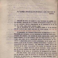 Militaria: MADRID-1938-EXPEDIENTE-6 INDIVIDUOS- POR ESPIONAJE Y ALTA TRAICION-PASAR PLANOS AL ENEMIGO FACIOSO-. Lote 211644073