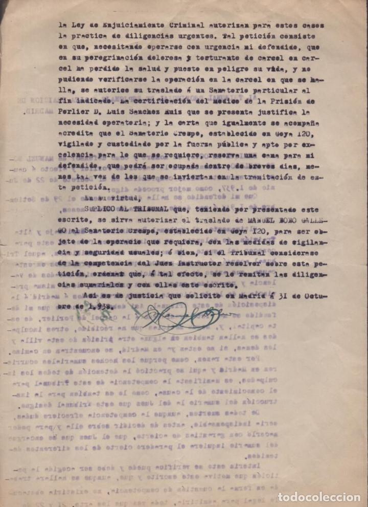 Militaria: MADRID-1938-EXPEDIENTE-6 INDIVIDUOS- POR ESPIONAJE Y ALTA TRAICION-PASAR PLANOS AL ENEMIGO FACIOSO- - Foto 2 - 211644073