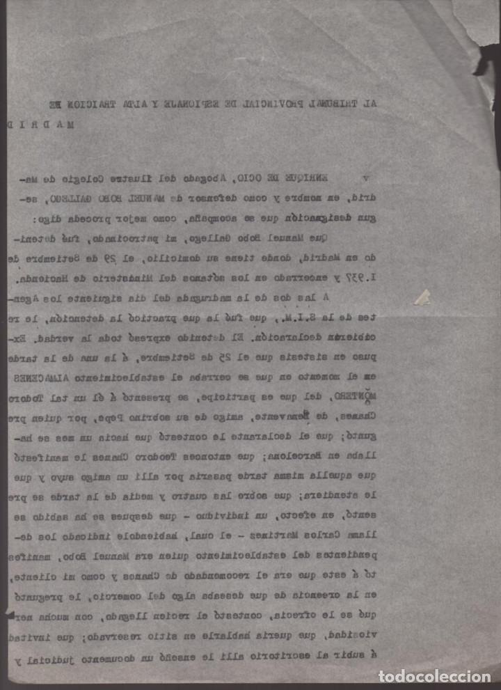 Militaria: MADRID-1938-EXPEDIENTE-6 INDIVIDUOS- POR ESPIONAJE Y ALTA TRAICION-PASAR PLANOS AL ENEMIGO FACIOSO- - Foto 5 - 211644073