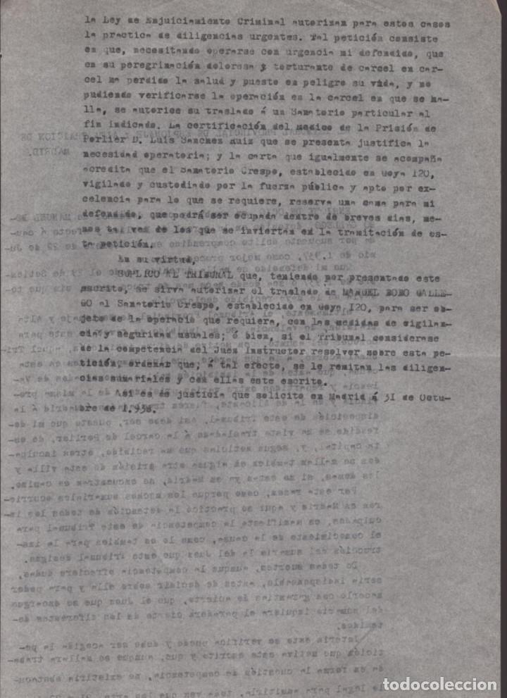 Militaria: MADRID-1938-EXPEDIENTE-6 INDIVIDUOS- POR ESPIONAJE Y ALTA TRAICION-PASAR PLANOS AL ENEMIGO FACIOSO- - Foto 8 - 211644073