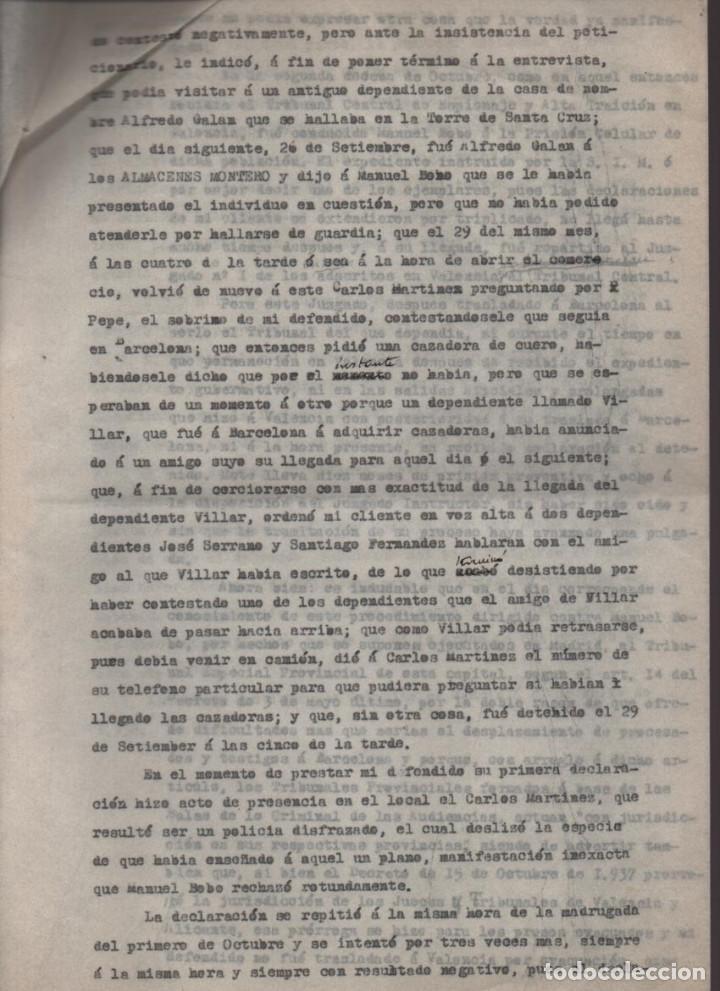 Militaria: MADRID-1938-EXPEDIENTE-6 INDIVIDUOS- POR ESPIONAJE Y ALTA TRAICION-PASAR PLANOS AL ENEMIGO FACIOSO- - Foto 10 - 211644073