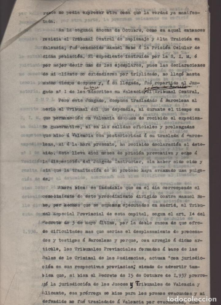Militaria: MADRID-1938-EXPEDIENTE-6 INDIVIDUOS- POR ESPIONAJE Y ALTA TRAICION-PASAR PLANOS AL ENEMIGO FACIOSO- - Foto 11 - 211644073
