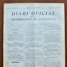 Militaria: DIARI OFICIAL DE LA GENERALITAT DE CATALUNYA - 8 JUNIO 1937 - RELACIÓN DE EMPRESAS COLECTIVIZADAS. Lote 211887275