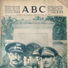 Militaria: ABC 22 AGOSTO DEL 1939 MARRUECOS. Lote 211982876