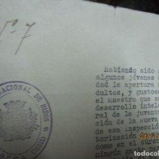 Militaria: REGAÑO CLASES A JOVENES EN GUERRA CIVIL 1938 JUBERA SORIA PARA FORMAR LA NUEVA ESPAÑA FIRMA ALCALDIA. Lote 212284635