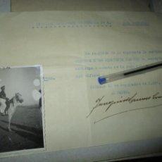 Militaria: GUERRA CIVIL PAGA A ALFEREZ 1937 BATALLON CAZADORES MELILLA Y FOTOGRAFIA. Lote 212674013