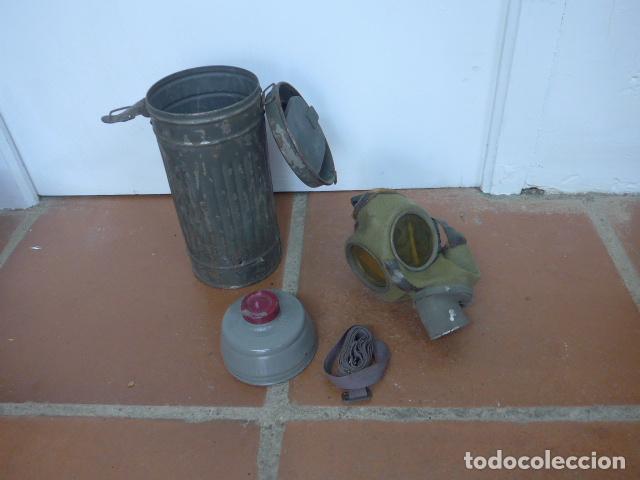 ANTIGUA MASCARA DE GAS ALEMANA DE GUERRA CIVIL, ORIGINAL. ANTIGAS. (Militar - Guerra Civil Española)