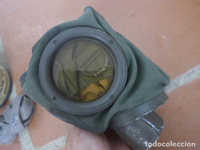 Militaria: Antigua mascara de gas alemana de guerra civil, Legion condor, con gris original. Antigas. Alemania. - Foto 3 - 213663223