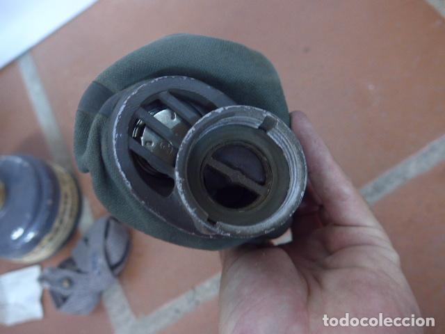 Militaria: Antigua mascara de gas alemana de guerra civil, Legion condor, con gris original. Antigas. Alemania. - Foto 5 - 213663223