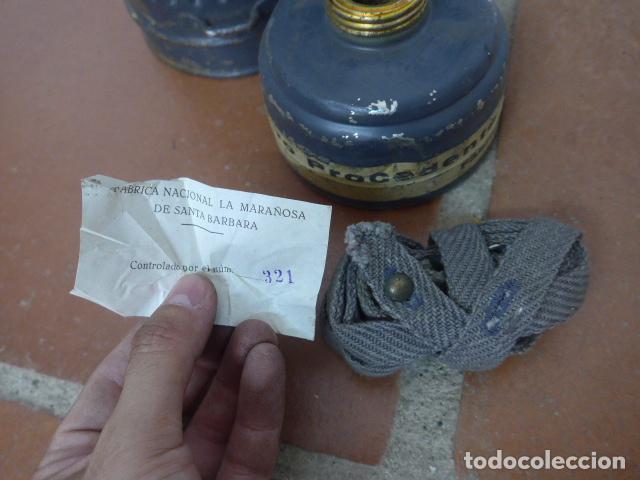 Militaria: Antigua mascara de gas alemana de guerra civil, Legion condor, con gris original. Antigas. Alemania. - Foto 7 - 213663223