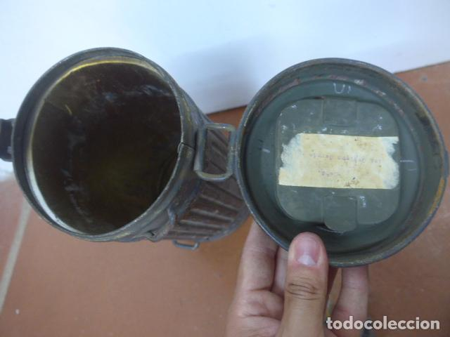 Militaria: Antigua mascara de gas alemana de guerra civil, Legion condor, con gris original. Antigas. Alemania. - Foto 10 - 213663223