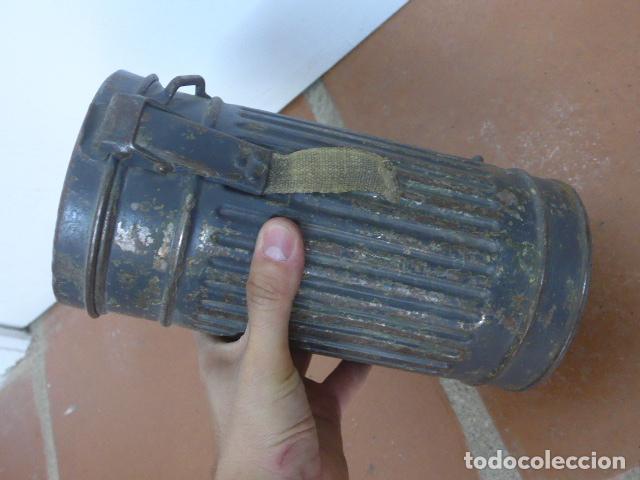 Militaria: Antigua mascara de gas alemana de guerra civil, Legion condor, con gris original. Antigas. Alemania. - Foto 14 - 213663223