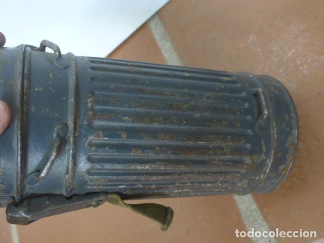 Militaria: Antigua mascara de gas alemana de guerra civil, Legion condor, con gris original. Antigas. Alemania. - Foto 17 - 213663223