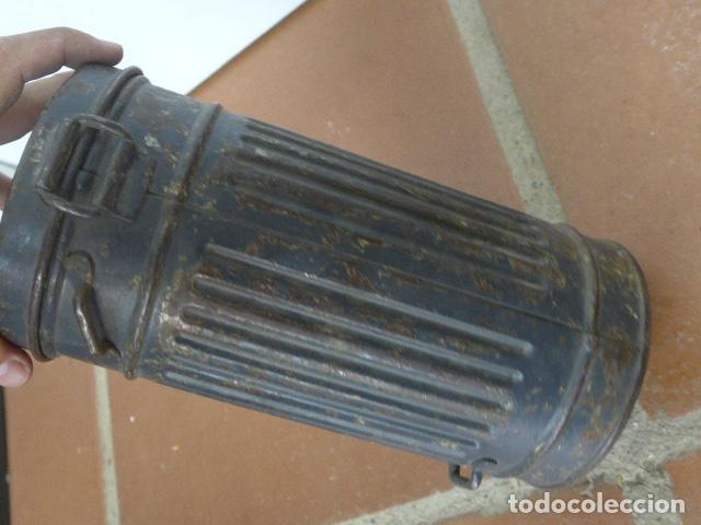 Militaria: Antigua mascara de gas alemana de guerra civil, Legion condor, con gris original. Antigas. Alemania. - Foto 18 - 213663223