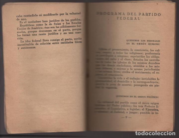 Militaria: LO QUE SERA LA REPUBLICA FEDERAL- PARTIDO DEMOCRATICO FEDERAL- AÑO 1931,. VER FOTOS - Foto 4 - 214295337