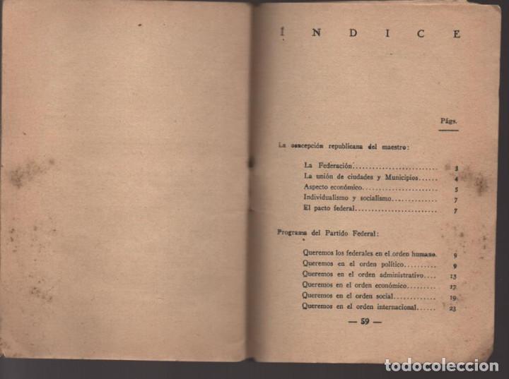 Militaria: LO QUE SERA LA REPUBLICA FEDERAL- PARTIDO DEMOCRATICO FEDERAL- AÑO 1931,. VER FOTOS - Foto 7 - 214295337