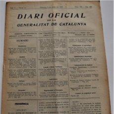 Militaria: DIARIO OFICIAL DE LA GENERALITAT DE CATALUNYA - 4 MAYO 1937 - BARCELONA, BADALONA Y VALLS. Lote 214408541