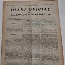 Militaria: DIARIO OFICIAL DE LA GENERALITAT DE CATALUNYA - 5 MAYO 1937 - BARCELONA ,TARRAGONA Y OTROS. Lote 214469108