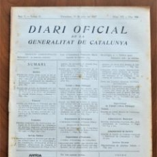 Militaria: DIARI OFICIAL DE LA GENERALITAT DE CATALUNYA - 11 JUNIO 1937 - TERRASSA, EMPRESAS COLECTIVIZADAS. Lote 214479311