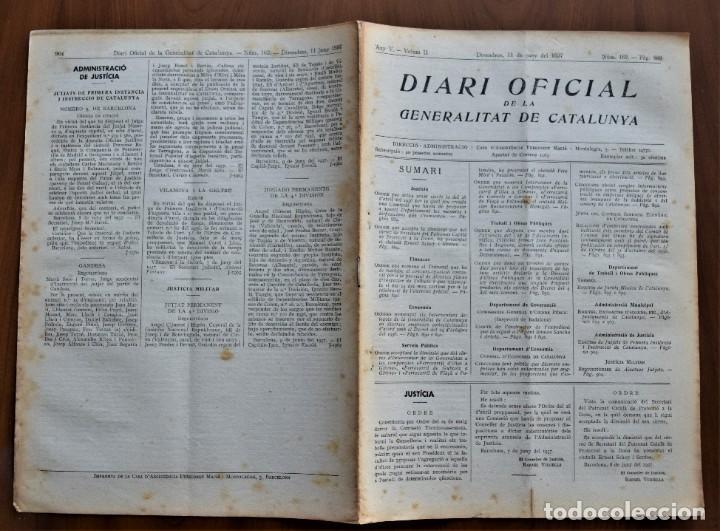 Militaria: DIARI OFICIAL DE LA GENERALITAT DE CATALUNYA - 11 JUNIO 1937 - TERRASSA, EMPRESAS COLECTIVIZADAS - Foto 2 - 214479311