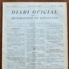 Militaria: DIARI OFICIAL DE LA GENERALITAT DE CATALUNYA - 15 JUNIO 1937 - COLEGIOS, TERRASSA, SANT SADURNÍ. Lote 214481093