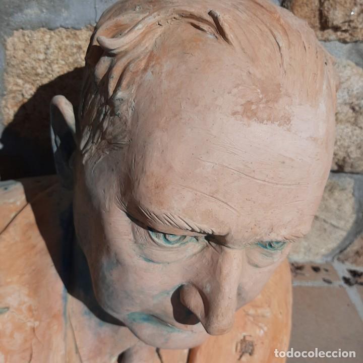 Militaria: Busto terracota de delegado de Excautivos de Vizcaya - Foto 6 - 214484961