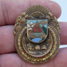 Militaria: EMBLEMA REPUBLICANO POLICIA DIRECCION GENERAL DE SEGURIDAD CONSEJO DE ARAGON ANARQUISTA GUERRA CIVIL. Lote 214864541
