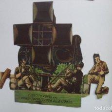 Militaria: EJERCITO POPULAR.FONO-LOCALIZADOR DE AVIONES EPOCA DE LA GUERRA CIVIL SALIAN EN LOS SOBRES SORPRESA. Lote 215248936