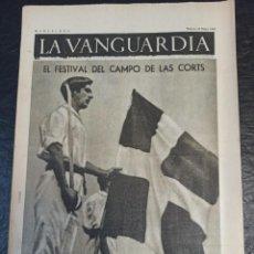 Militaria: LA VANGUARDIA. BARCELONA. 18 DE MAYO DE 1937. Lote 216758675