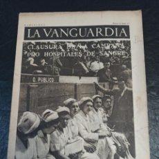 Militaria: LA VANGUARDIA. BARCELONA. 13 DE ABRIL DE 1937. Lote 216762337