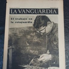 Militaria: LA VANGUARDIA. BARCELONA. 8 DE ENERO DE 1937. Lote 216777606
