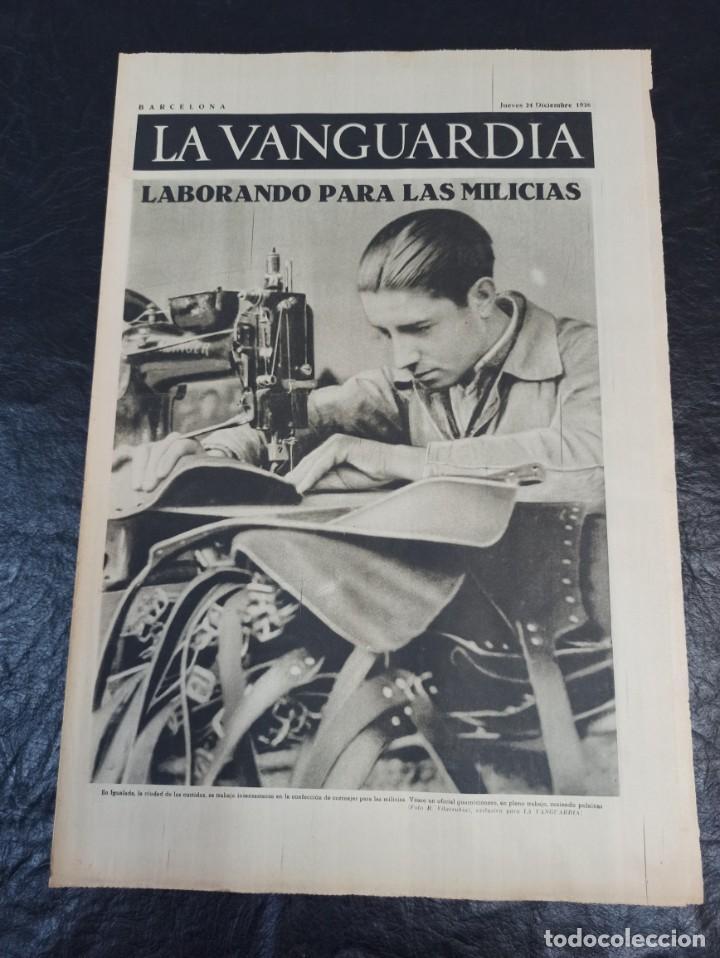 LA VANGUARDIA. BARCELONA. 24 DE DICIEMBRE DE 1936 (Militar - Guerra Civil Española)