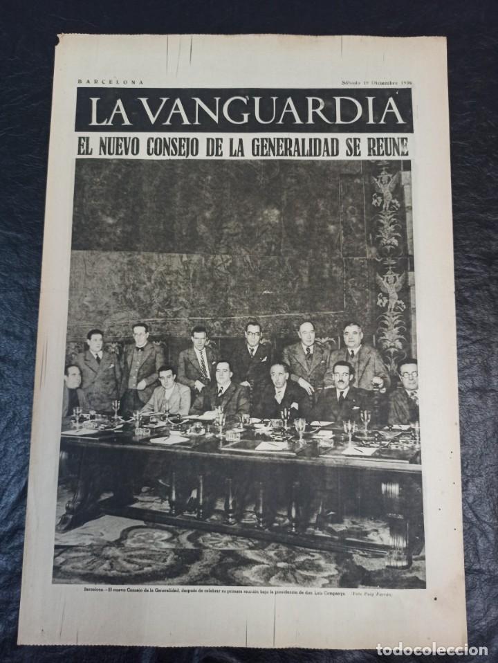 LA VANGUARDIA. BARCELONA. 19 DE DICIEMBRE DE 1936 (Militar - Guerra Civil Española)