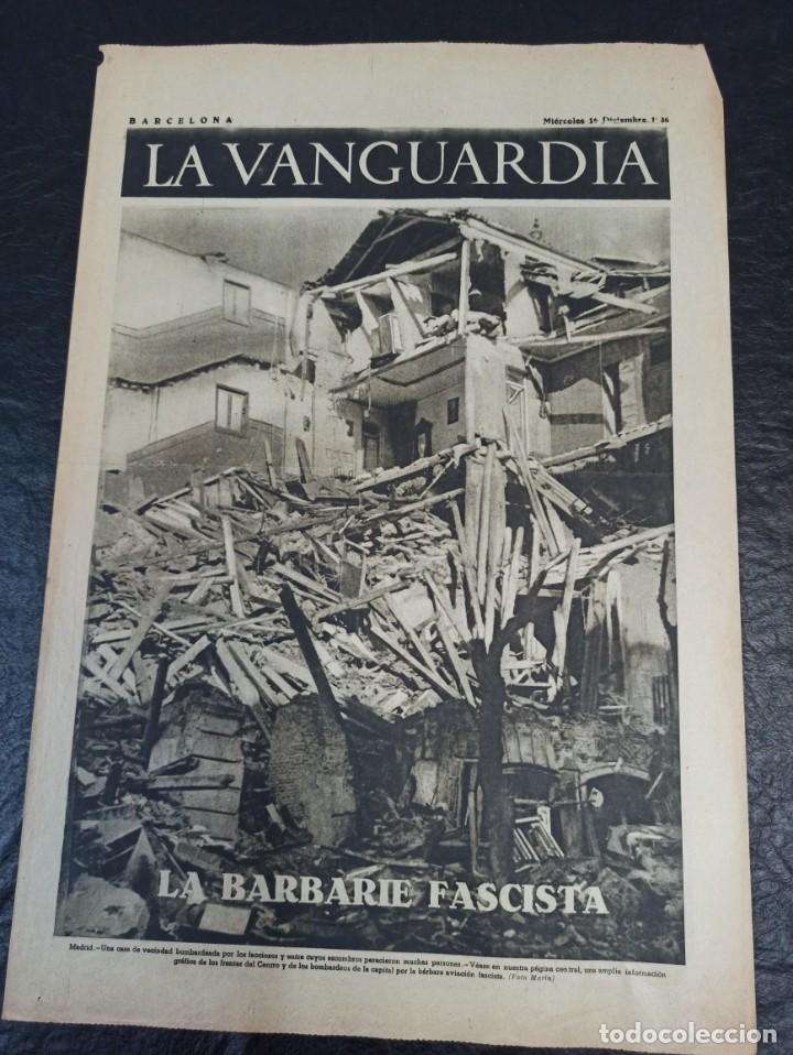 LA VANGUARDIA. BARCELONA. 16 DE DICIEMBRE DE 1936 (Militar - Guerra Civil Española)