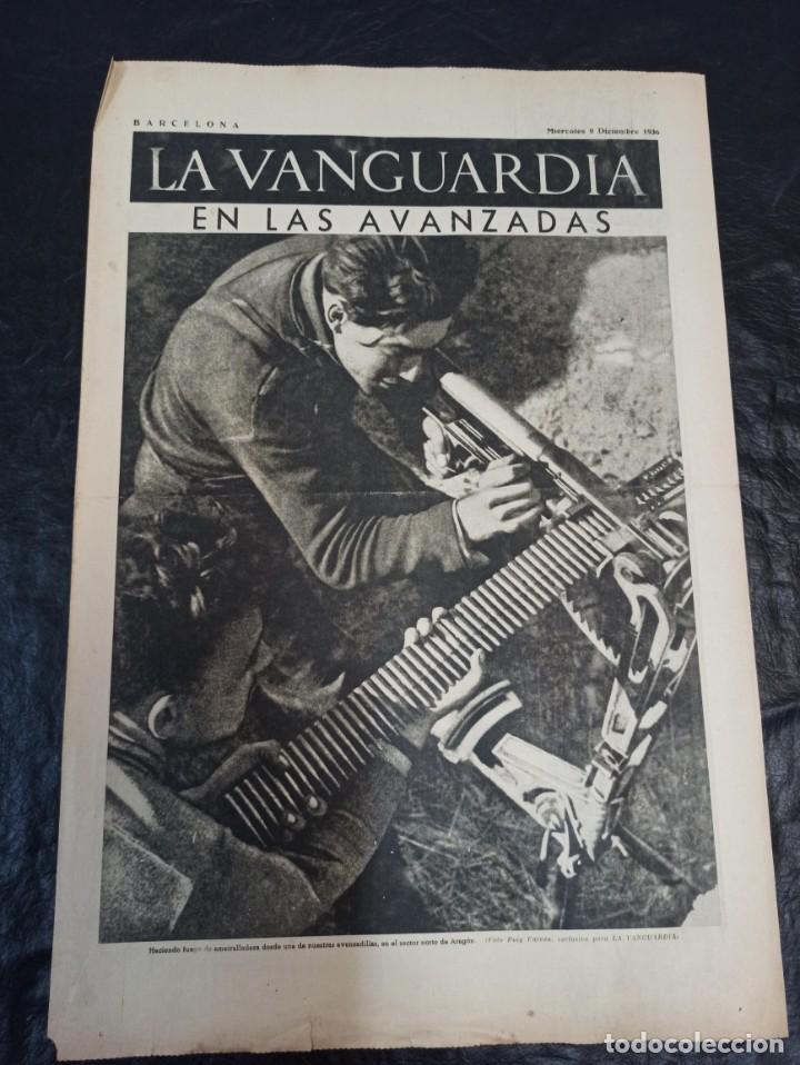 LA VANGUARDIA. BARCELONA. 9 DE DICIEMBRE DE 1936 (Militar - Guerra Civil Española)