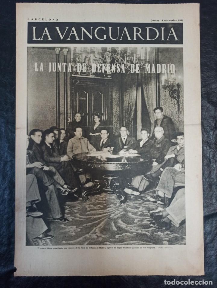 LA VANGUARDIA. BARCELONA. 19 NOVIEMBRE DE 1936 (Militar - Guerra Civil Española)