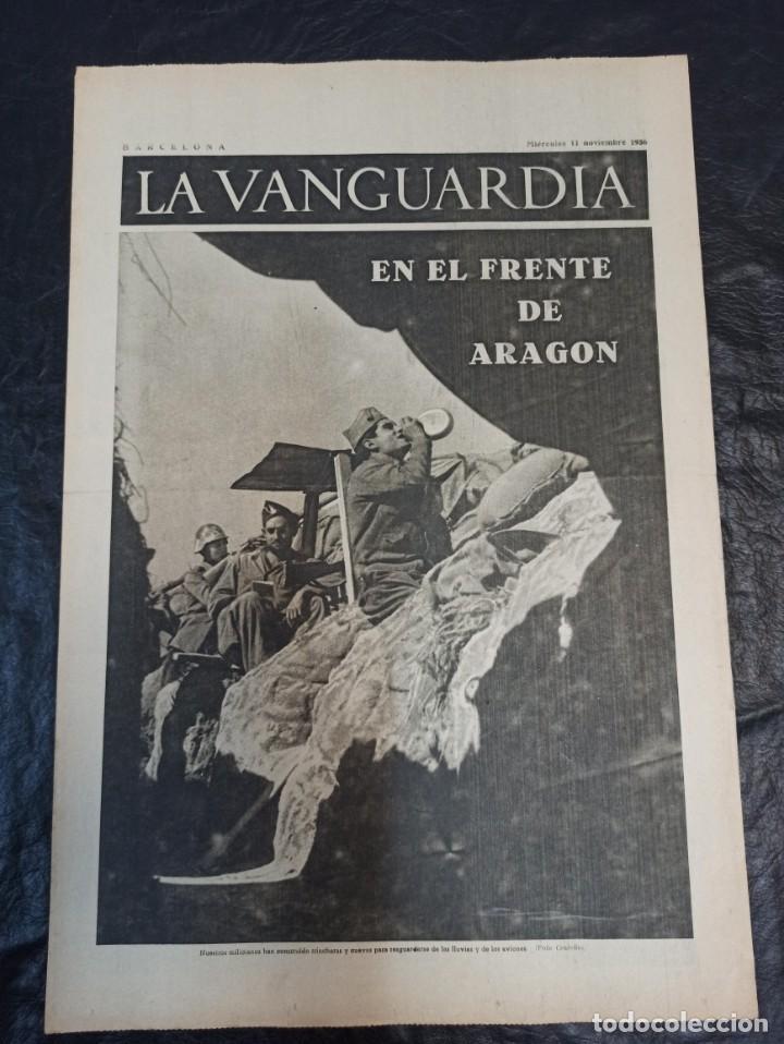 LA VANGUARDIA. BARCELONA. 11 NOVIEMBRE DE 1936 (Militar - Guerra Civil Española)