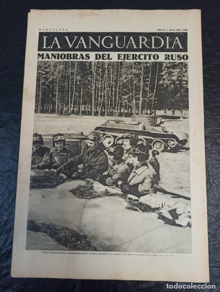 LA VANGUARDIA. BARCELONA. 3 NOVIEMBRE DE 1936 (Militar - Guerra Civil Española)