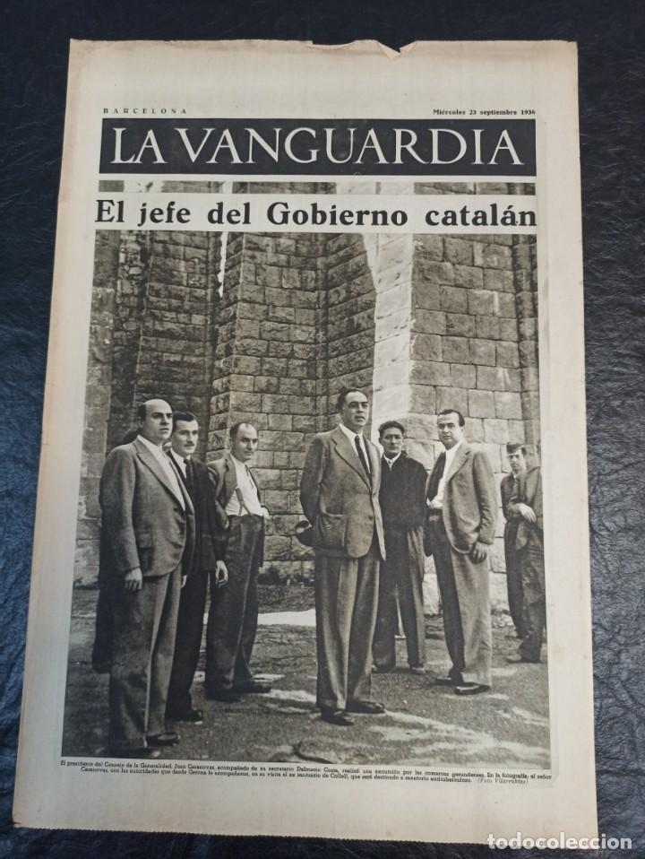 LA VANGUARDIA. BARCELONA. 23 DE SEPTIEMBRE DE 1936 (Militar - Guerra Civil Española)