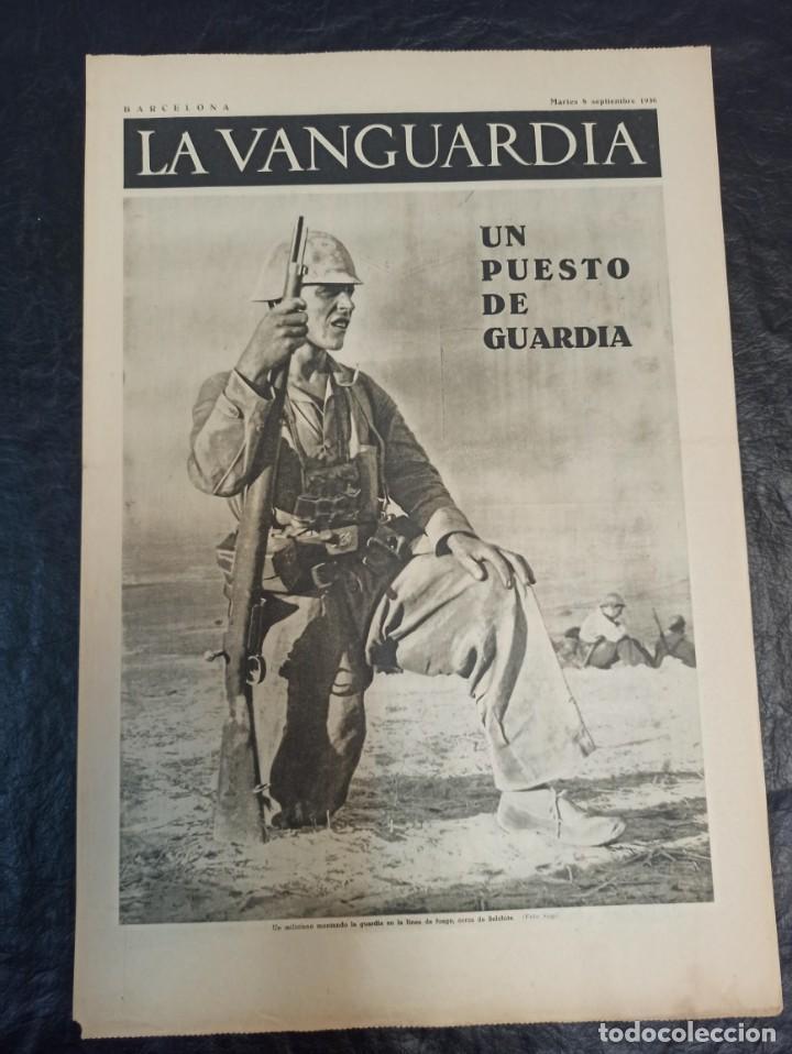 LA VANGUARDIA. BARCELONA. 8 DE SEPTIEMBRE DE 1936 (Militar - Guerra Civil Española)