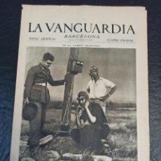 Militaria: LA VANGUARDIA. BARCELONA. 13 DE AGOSTO DE 1936. Lote 216852725